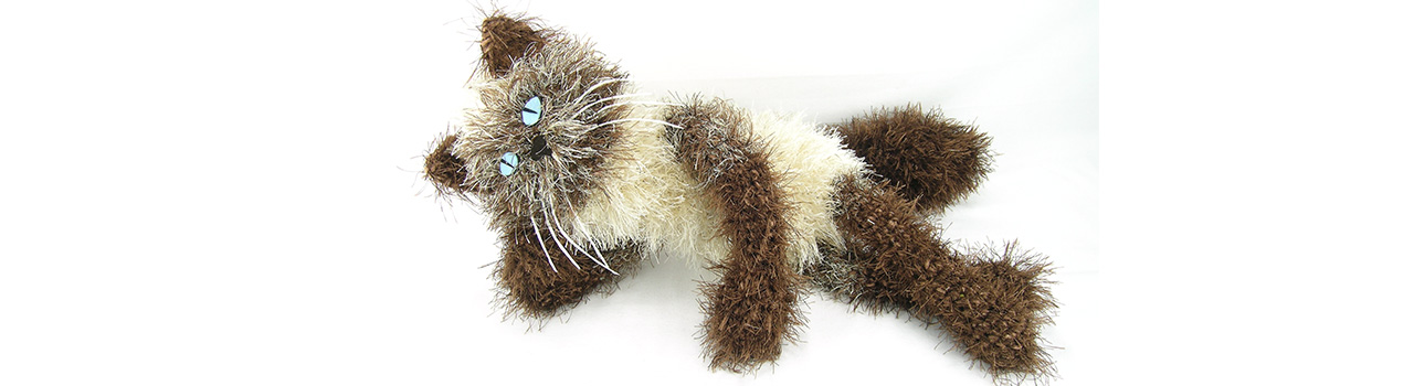 crocheted one of a kind cat