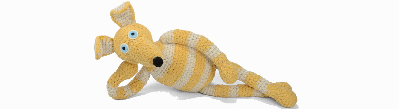 crocheted one of a kind dog