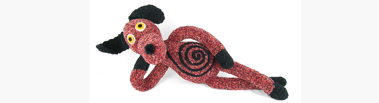 crocheted one of a kind dog 2