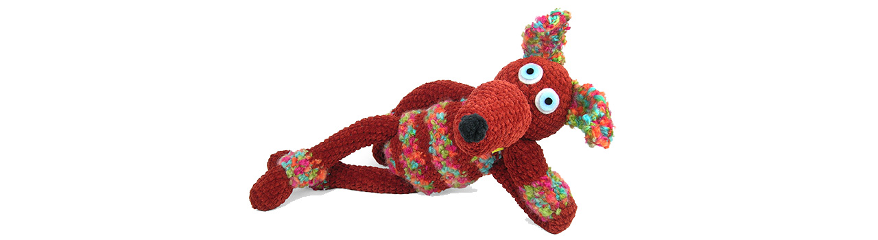 crocheted one of a kind dog 3