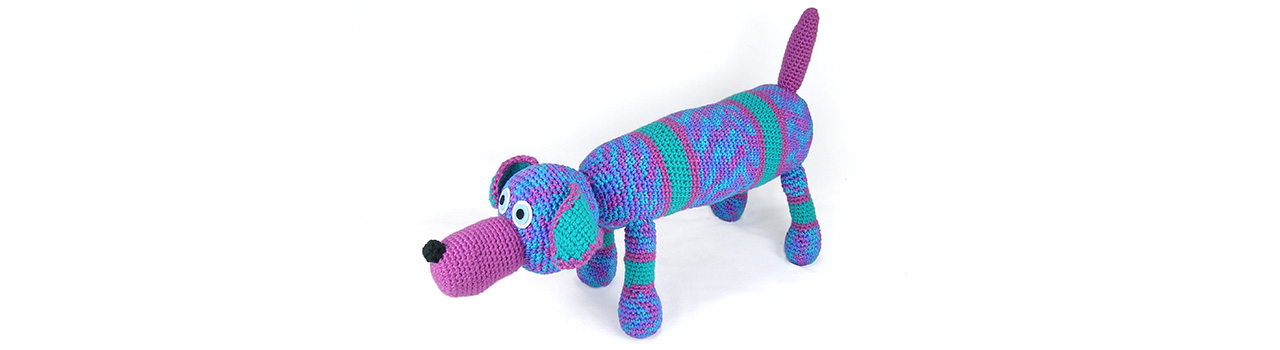 crocheted one of a kind doxie
