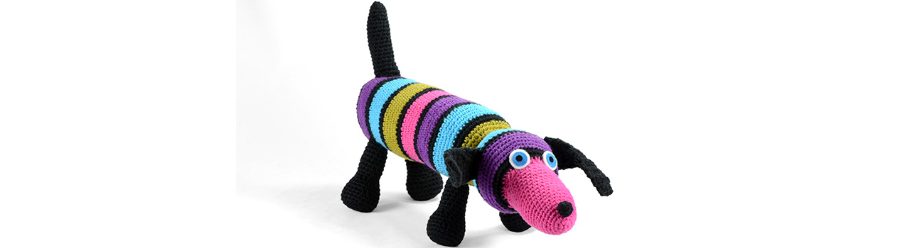 crocheted one of a kind doxie 2